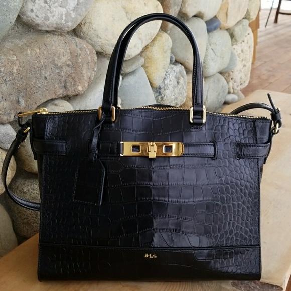 a21353f52c8c Lauren Ralph Lauren Handbags - Lauren By Ralph Lauren Darwin Croc Satchel.